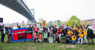 Climate Activists Target a Retrofitted 'Peaker Plant' in Queens, Decrying New Fossil Fuel Infrastructure
